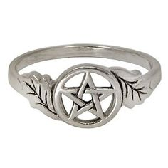 Amazon.com: Sterling Silver Oak Leaf Pentacle Ring for Men or Women (sz 4-15): Jewelry