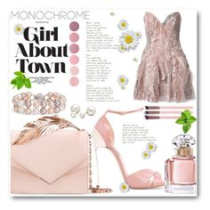 """""""Rose chic"""" by ornellag ❤ liked on Polyvore featuring Allurez, Trash-Couture, Deborah Lippmann, Casadei, Blue Nile, RALPH & RUSSO and Guerlain"""