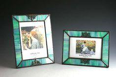 stained glass photo frame  | Sunflower Glass Studio | Beveled Frames