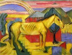 Franz Marc, Long Yellow Horse (1913, Nassau County Museum of Art)