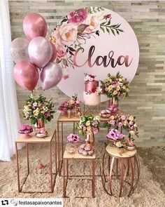 Simple Birthday Party: 100 charming decorations and acces . Festa de 15 anos simples: 100 encantadoras e Simple Birthday Party: 100 lovely decorations and acces . Shower Party, Bridal Shower, Baby Shower, Happy Birthday, Birthday Parties, Ideas Para Fiestas, Dessert Table, Perfect Wedding, Party Themes