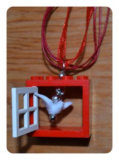 Peace Dove in the Lego Window Necklace by inthespicerack on Etsy