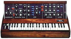 the Mini-Moog became the most widely used synthesizer in both popular and electronic art music. In a group of musicians and music merchants developed the Musical Instrument Digital Interface (MIDI), and Yamaha released the first FM digital synthesizer. Vintage Synth, Recording Equipment, Works With Alexa, House Music, Sweet Life, Electronic Music, Art Music, Audio Books, Dj