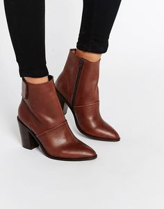 818453f3ce54e6 Image 1 of ASOS EFFIE Leather Ankle Boots Fringues, Bottines En Cuir,  Chaussures Fille