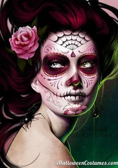 awesome sugar skull makeup for halloween halloween costumes 2013