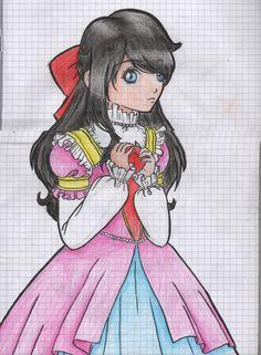 Snow white princess fairytale apple