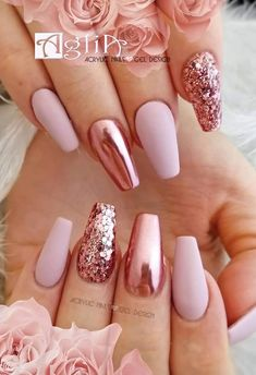 Gel design on Sice venku d mrz, no my u toume po jaru Krsn, n. Gel design on Sice venku d mrz, no my u toume po jaru Krsn, nov NATURE 1 color g - Gel Designs, Nail Art Designs, Acrylic Nail Designs Classy, Chrome Nails Designs, Crome Nails, Gold Acrylic Nails, Rose Gold Glitter Nails, Pink Chrome Nails, Blush Pink Nails