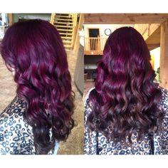 Purple and dark brown curls