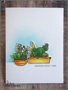 [Werkeltisch] Sukkulenten und Kakteen | fraeulein-nebel.org Marker, Sending Good Vibes, Cardmaking, Cacti, Succulents, Paint Run, Mists, Xmas Cards, Markers