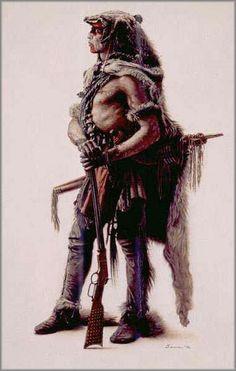 james bama art   James Bama - Northern Cheyenne Wolf Scout: ART
