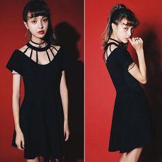 Sexy Club Dress Women Black Casual Punk Rock Hip Hop Dress Women Short Sleeve Gothic Clubwear Dresses Vestidos Femininos