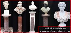 Classical Marble Busts - Classical Antiquity In Your Garden From Canonbury Antiques Classical Antiquity, Classical Art, Marble Interior, Marble Bust, Roman Emperor, Italian Marble, Classic Italian, Greek Gods, Stone Carving