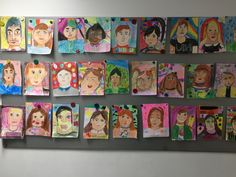 Portraits by my 2nd grade students