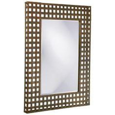 "Howard Elliott Patrick 37"" x 46"" Metal Wall Mirror -"