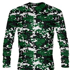 ac463dd589 LightningWear Dark Green Digital Camouflage Long Sleeve Shirts at Amazon  Men s Clothing store