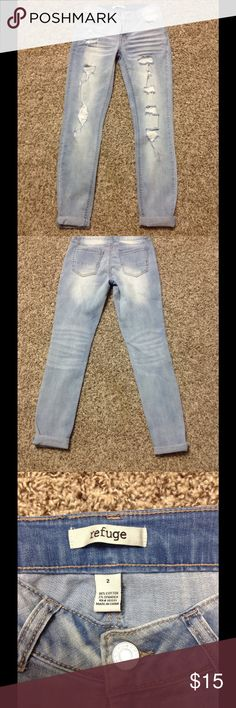 Cute excellent condition boyfriend style jeans Love these jeans they are a perfect fit refuge Jeans Boyfriend