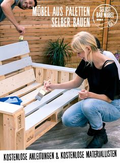 Selbstgebaute Palettencouch und viele andere Palettenmöbel mit ausführlicher A. Home-made pallet couch and many other pallet furniture with detailed instructions and a list of materials # your origi