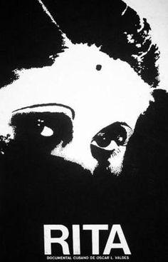 Cartel de René Azcuy para el documental, Rita del realizador Oscar L. Valdés (1981)