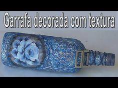 GARRAFA DECORADA COM TEXTURA - YouTube