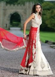 Indian chinese fusion wedding dresses
