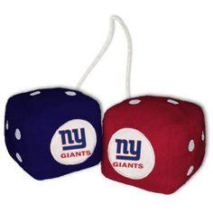 NFL New York Giants Football Team Fuzzy Dice, Multicolor