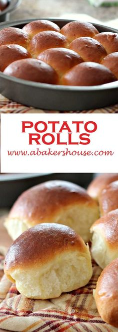 Homemade potato rolls start with left over mashed potatoes but end up as the star of your meal with this easy recipe from Food Network. Made by Holly Baker at www.abakershouse.com