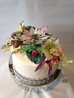 Christmas cake My Flower, Flowers, Cake, Desserts, Christmas, Food, Tailgate Desserts, Xmas, Deserts
