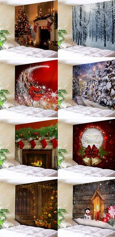 Kreativ Christmas decor ideas:christmas wall tapestries Protect Your Patio With Vinyl Covers If your Cheap Christmas, Christmas 2017, Christmas Photos, All Things Christmas, Christmas Holidays, Christmas Ideas, Holiday Crafts, Holiday Decor, Spring Crafts