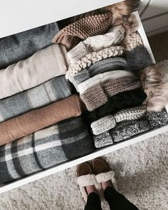 Fall Fashion - Winter - Beanie - Hat - Inside - Blanket - Dresser - Cozy