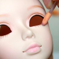 Tutorials for putting make-up on eye openings heads