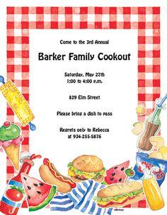 family reunion invitation template reunion picnic invites 468