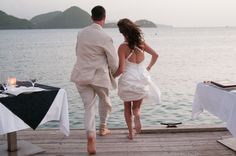Destination wedding in St. Lucia shot at the beautiful Sandals Grande St. Lucian resort. I suppose every wedding is a 'leap' of faith! :)