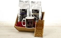 Coffee lovers won't be able to get enough of their very own hamper complete with luxury coffee, a personalised mug and a bar of chocolate! #Chocolate #Hamper #Coffee #PersonalisedGifts £29.99