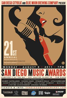 R.Black Poster of San Diego Music Awards