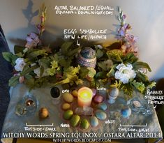 Witchy Words: Witchy Words Spring Equinox / Ostara Altar 2014 - More pictures inside! Click me! Vernal Equinox, Equinox 2018, Pagan Altar, Beltane, Book Of Shadows, Spring, Decoration, Witchcraft, Wiccan Witch