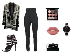 """""""NYFW"""" by covetfashion13 ❤ liked on Polyvore featuring Balmain, Dolce&Gabbana, Lime Crime, MAC Cosmetics and Olivia Burton"""