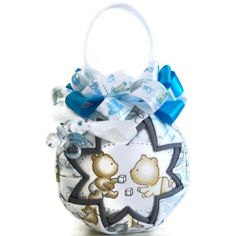 Its a boy Quilted Decoration blue Ornament ball baby by PinKyJubb, $16.00