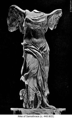 the striking Nike of Samothrace