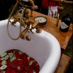 Hendricks stand at the Foodies Festival, it's a gin bath... Nice