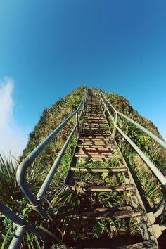 Stairway to heaven em Oahu, Havaí, eu não posso acreditar que eu não sabia sobre isso quando eu passava férias lá! Ugh! Esperemos que eu vou conseguir voltar algum dia !!