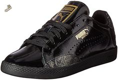 PUMA Women's Match Lo Pnt Snake Wn's Fashion Sneaker, Puma Black/Gold, 6 M US - Puma sneakers for women (*Amazon Partner-Link)
