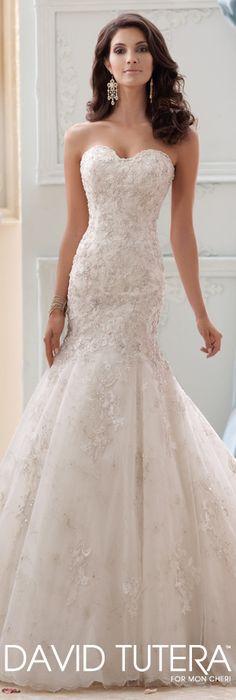 The David Tutera for Mon Cheri Spring 2015 Wedding Dress Collection - Style No. 115232 Gia   davidtuteraformoncheri.com  #weddingdresses