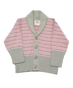 Take a look at this Stone & Pink Wanderer Cardigan - Infant, Toddler & Girls by Loop Collection on #zulily today!