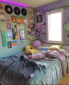 Chill Room, Cozy Room, Room Ideas Bedroom, Bedroom Decor, Bedroom Inspo, Chambre Indie, Indie Room Decor, Retro Bedrooms, Retro Room