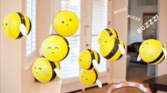 DIY Bumble Bee Balloons