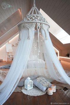 Macrame Art, Macrame Design, Macrame Projects, Baby Canopy, Canopy Tent, Macrame Curtain, Deco Boheme, Macrame Patterns, Decoration