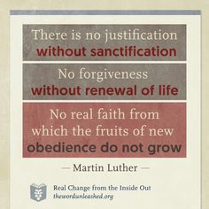 christian quotes | Martin Luther quotes | justification | sanctification