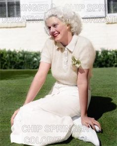 JEAN HARLOW Posing on Law (#1) | Beautiful 8x10 COLOR Photo by CHIP SPRINGER. Featured Ebay Listing. Please visit my Ebay Store, Legends of the Silver Screen, at http://legendsofthesilverscreen.com to see the current listings of your favorite Stars now in glorious color! Thanks for looking and check out my Youtube videos at https://www.youtube.com/channel/UCyX926rA5x4seARq5WC8_0w