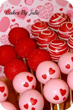 "CakesByJulie on ""Valentine cake pops. Valentines Day Desserts, Valentine Cake, Valentine Treats, Valentines Day Party, Holiday Treats, Valentines Cakepops, Cake Pop Designs, Lemon And Coconut Cake, Love Cake"