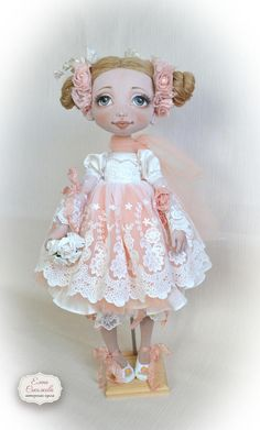 Jane. Textile doll. Big doll. OOAK.  the only copy. 21